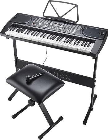 Zennox Teclado electrónico con soporte, taburete y micrófono ...