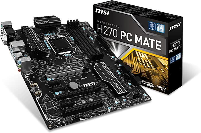 MSI Pro Series Intel H270 DDR4 HDMI USB 3 CrossFire ATX Motherboard (H270 PC MATE)