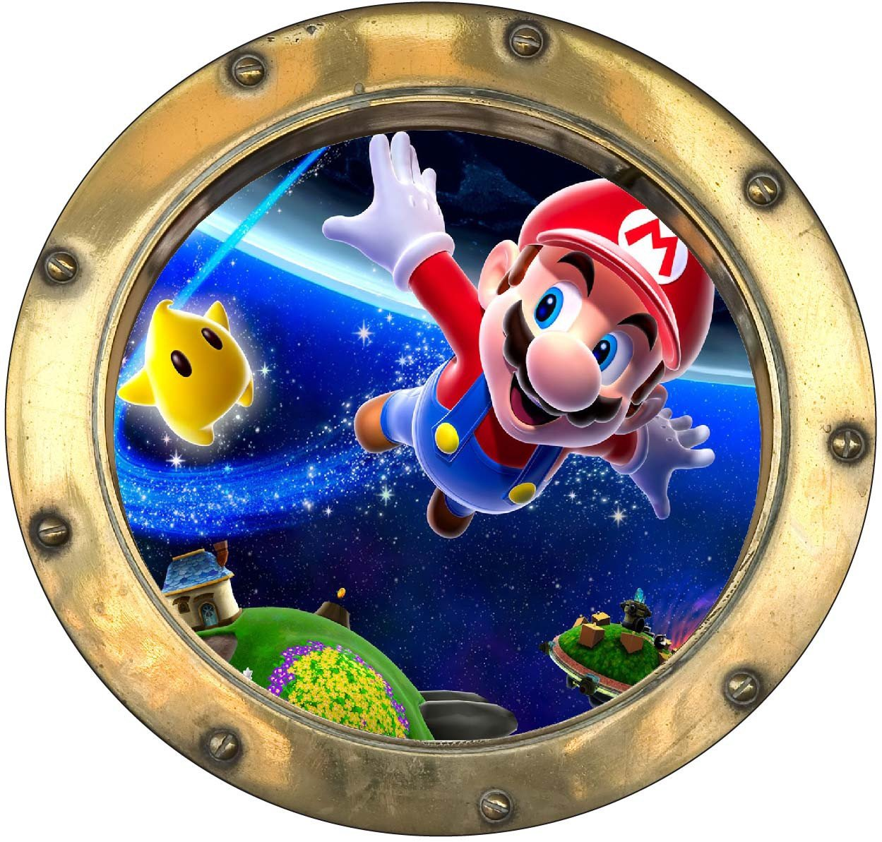 Stickersnews Sticker hublot enfant Mario r/éf 9557 Dimensions 50x50cm