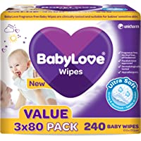 BabyLove Ultra Soft Baby Wipes Value Pack (240 Pack x 3)