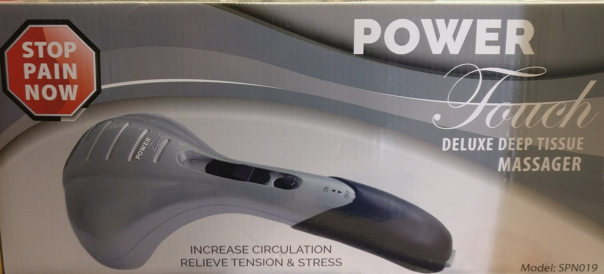 Power Touch Deluxe Deep Tissue Massager Silver