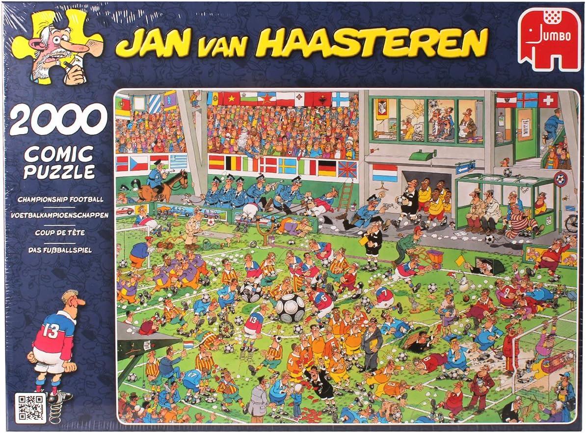 Jumbo Jan Van Haasteren - Puzzle (2000 Piezas), diseño de Campeonato de fútbol: Amazon.es: Juguetes y juegos