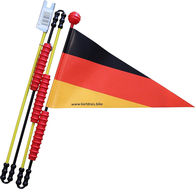 Karl Drais 160 cm Alemania banderín de Bicicleta (banderín de ...