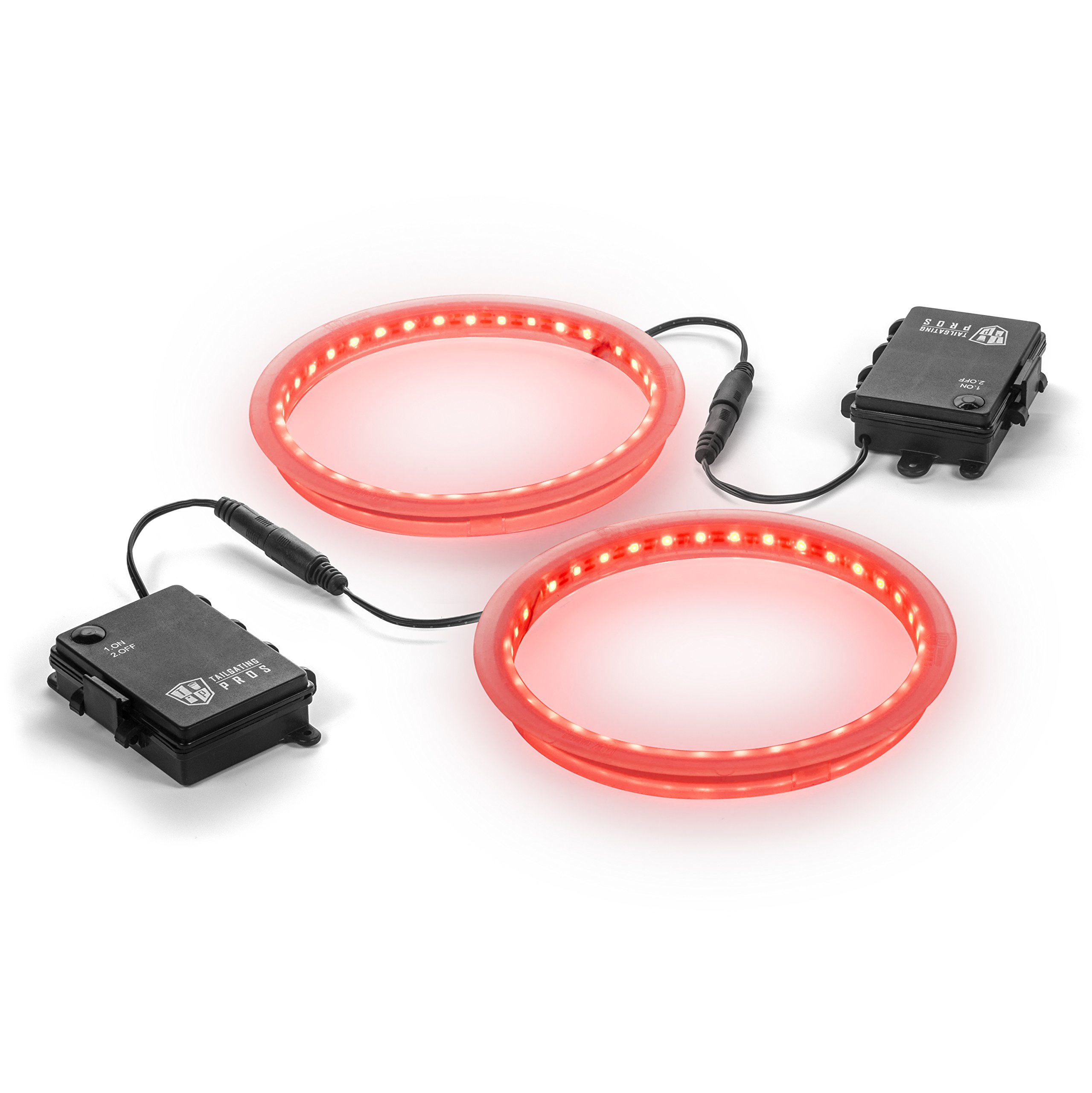 Tailgating Pros Premium 36 LED Cornhole Light Ring Set - 6 Color Options + Multicolored (Red) by Tailgating Pros