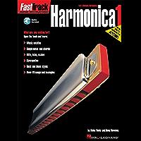 FastTrack Harmonica Method - Book 1: for Diatonic Harmonica (Fast Track (Hal Leonard)) book cover
