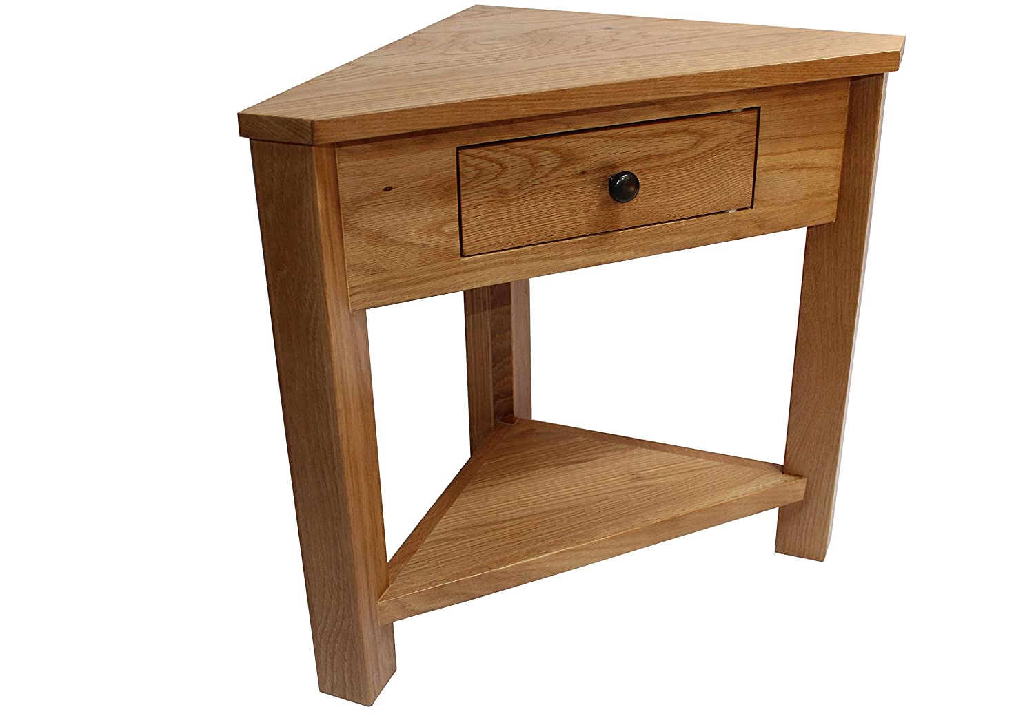 small hall furniture. oak corner table plantstand lamptable small hallway onedrawer display shelf livingroom dinning amazoncouk kitchen u0026 home hall furniture