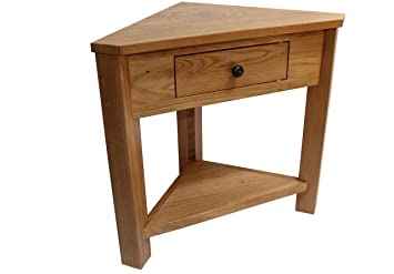 Perfect Oak Corner Unit Console Telephone Lamp Table Hallway Plant Stand Hall  Furniture New