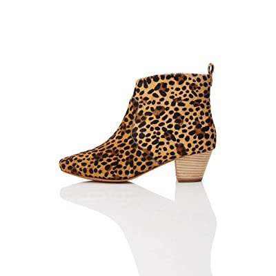 Brand - find. Women's Leather Block Heel Ankle Boots: Shoes
