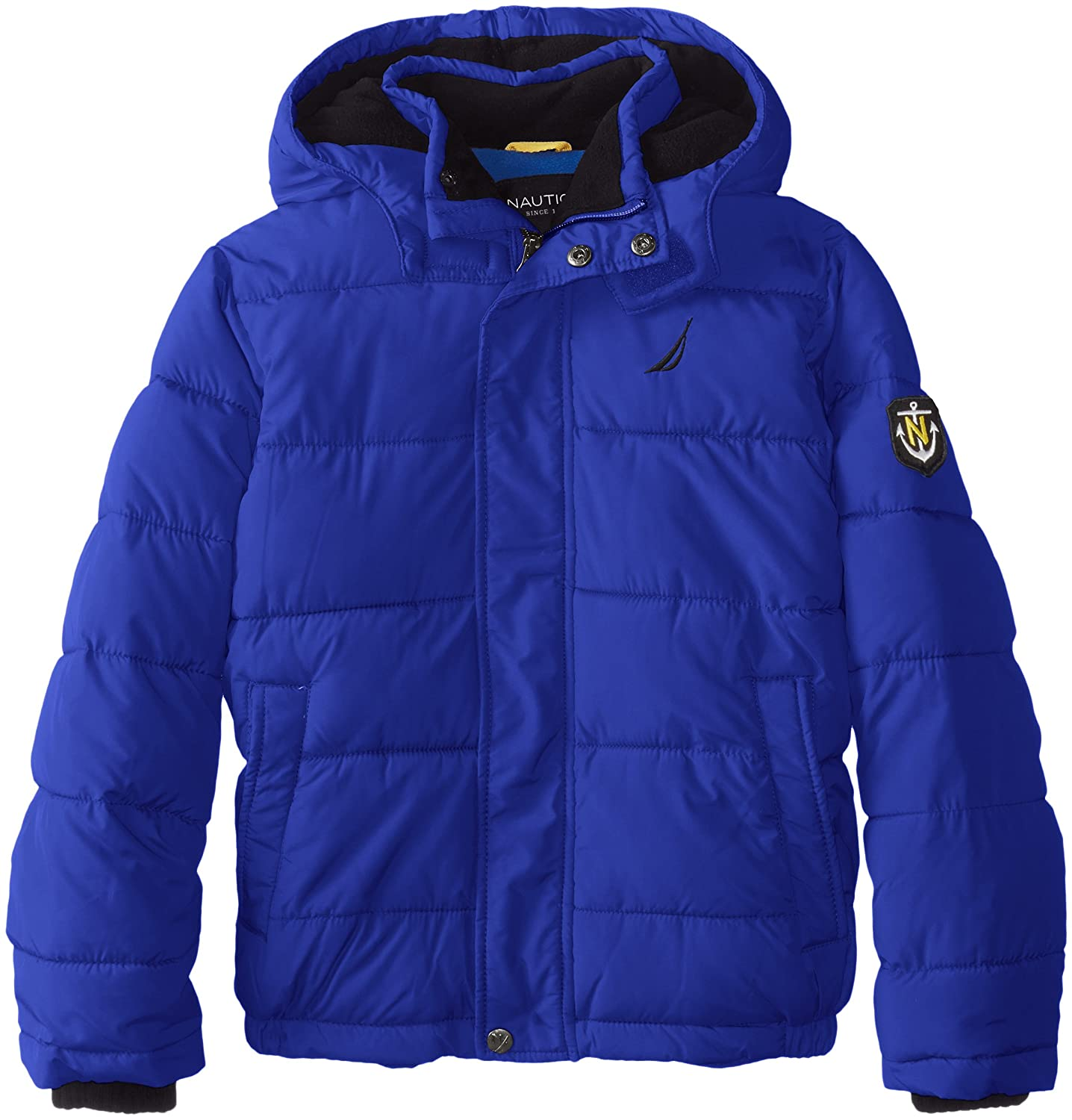 ad9813226 Amazon.com: Nautica Boys' Big Water Resistant Signature Bubble Jacket with  Storm Cuffs: Clothing