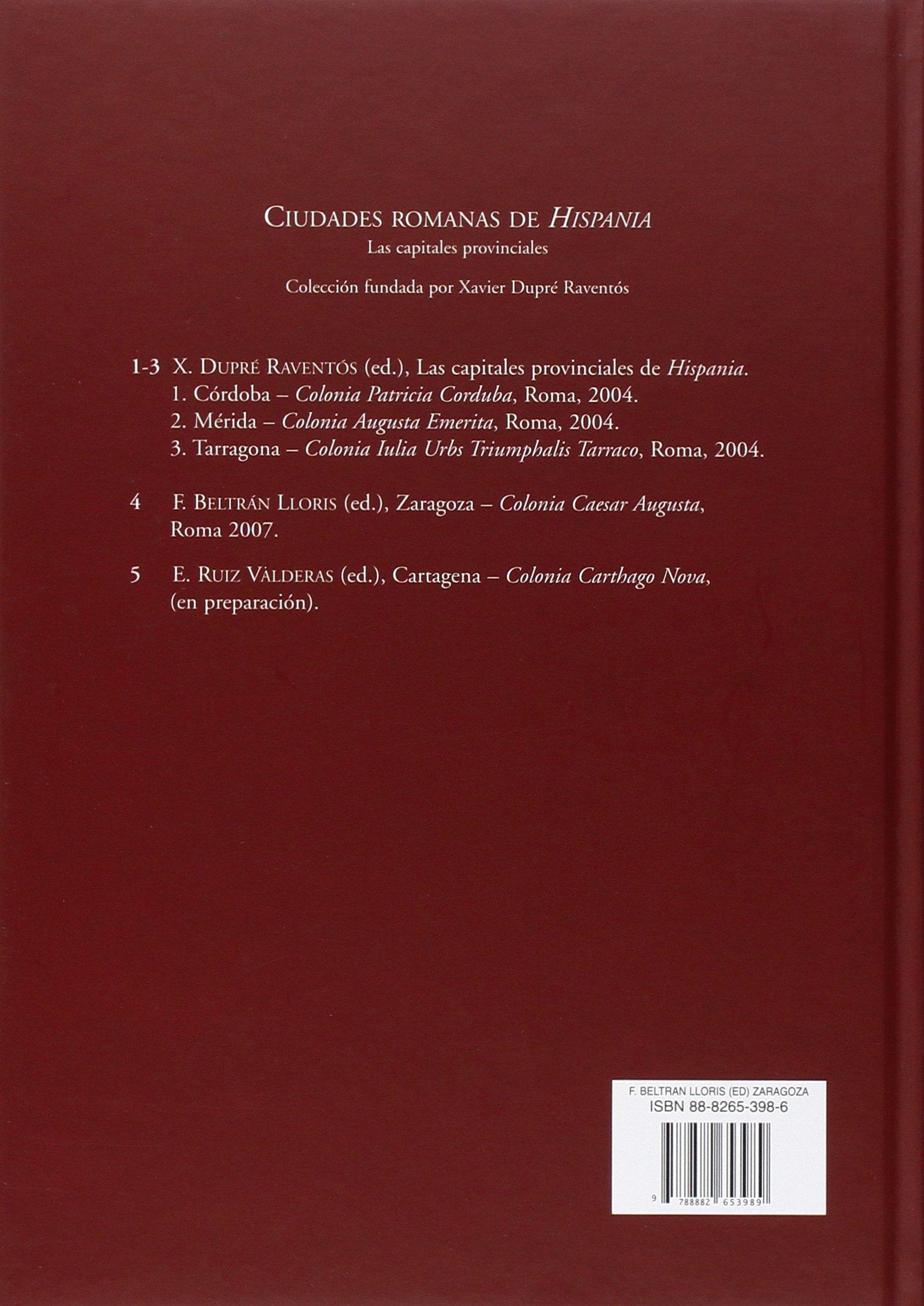 Zaragoza (Ciudades romanas de Hispania): Amazon.es: L. F. Beltrán: Libros en idiomas extranjeros