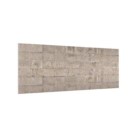 Bilderwelten Paraschizzi in Vetro - Brick Concrete - Panoramico ...