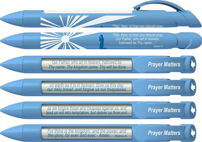 Prayer Matters-Lord/'s Prayer Rotating Message Pens 6 Pack Pen 36032