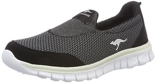 Kangaroos K-Run Jey, Zapatillas sin Cordones para Mujer, Negro (Jet Black/Vapor Grey 5007), 40 EU