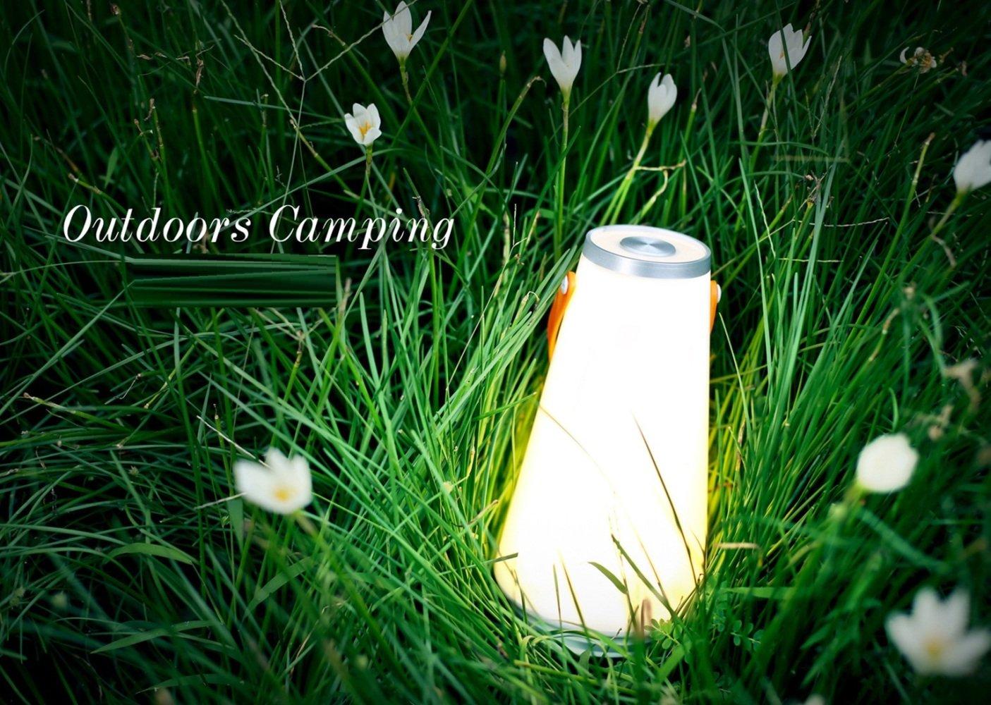 VIO Outdoor Desktop Beleuchtung Strand Multifunktionale Tragbare Nachtlicht Ladeatmosph/äre Tischlampe Camping Lampe,Orange,Einheitsgr/ö/ße