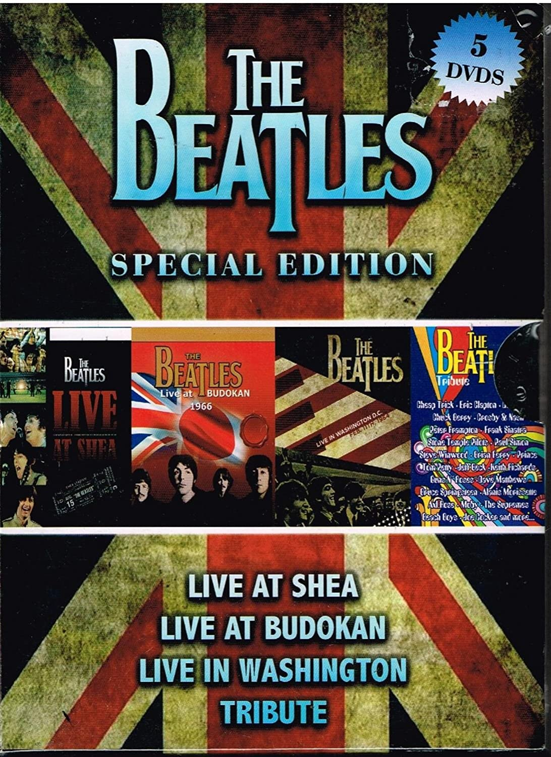 The Beatles Special Edition 5 Dvd S Live At Shea Live At Budokan Live In Washington Tribute The Beatles Movies Tv