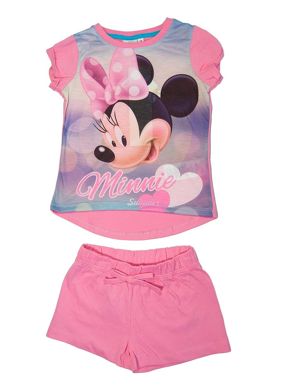 Minnie Mouse Oficial ni/ña Camiseta y pantal/ón Corto de Edad 3,4,6,8/a/ños