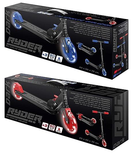 Saica Azul Patinete 2 Ruedas Ryder Dark LED, Color Negro (1 ...