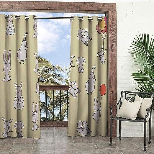 Linhomedecor - Cortinas Impermeables para jardín, diseño con 9 Ojales: Amazon.es: Jardín