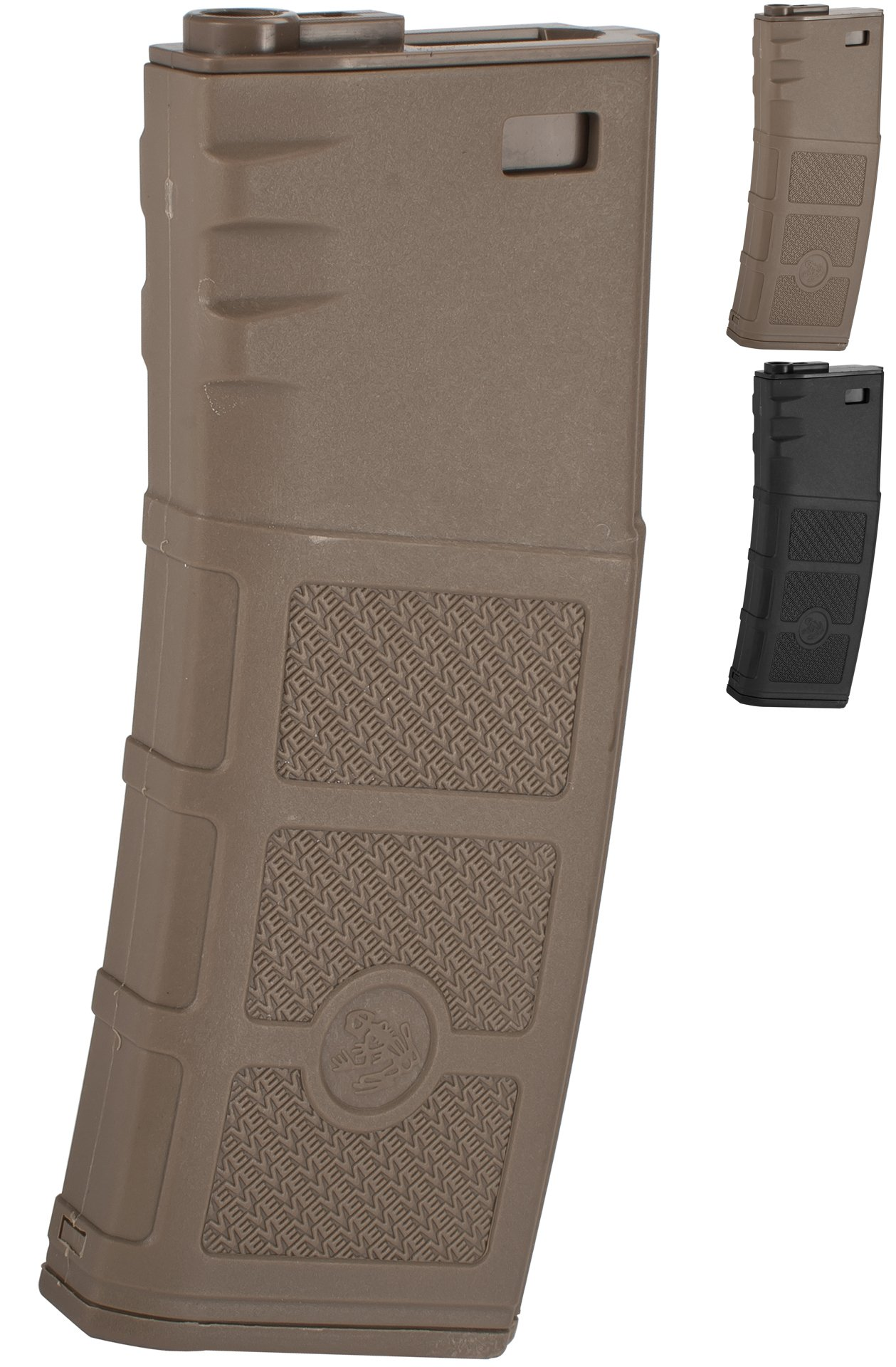 Evike G&P High RPS 360rd Polymer HI-Cap Magazine for M4 M16 Airsoft AEG Rifles - Dark Earth - (42508) by Evike