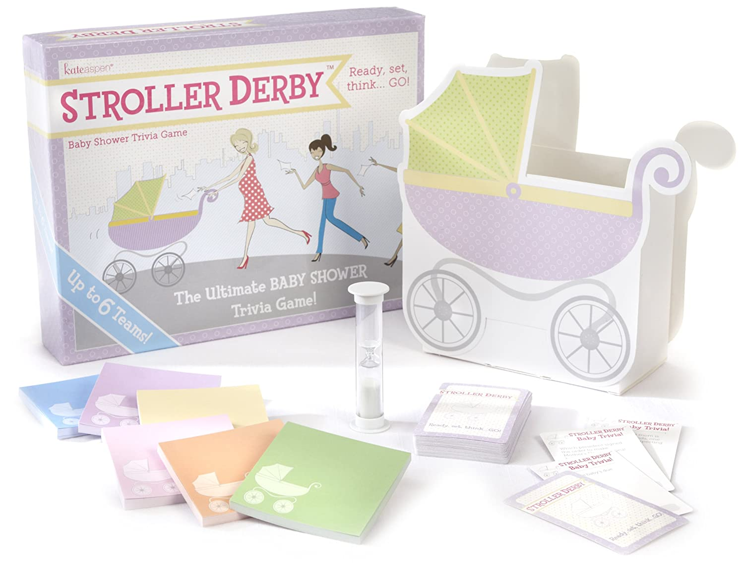 Amazon.com: Kate Aspen Stroller Derby Baby Shower Trivia Game (Discontinued  By Manufacturer): Toys U0026 Games