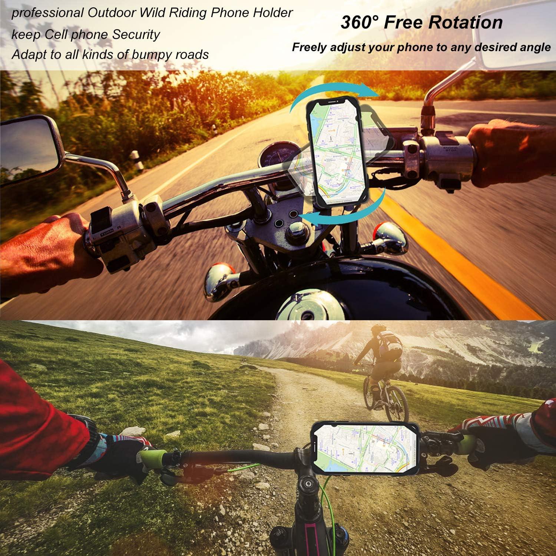 Galaxy e 4.5-6.5 3 in 1 ,Supporto Universale Regolabile in Silicone per Xiaomi Schermo Intero Supporto Bici Smartphone con 360 /°Rotazione Huawei Mijobs Porta Cellulare per Bicicletta iPhone