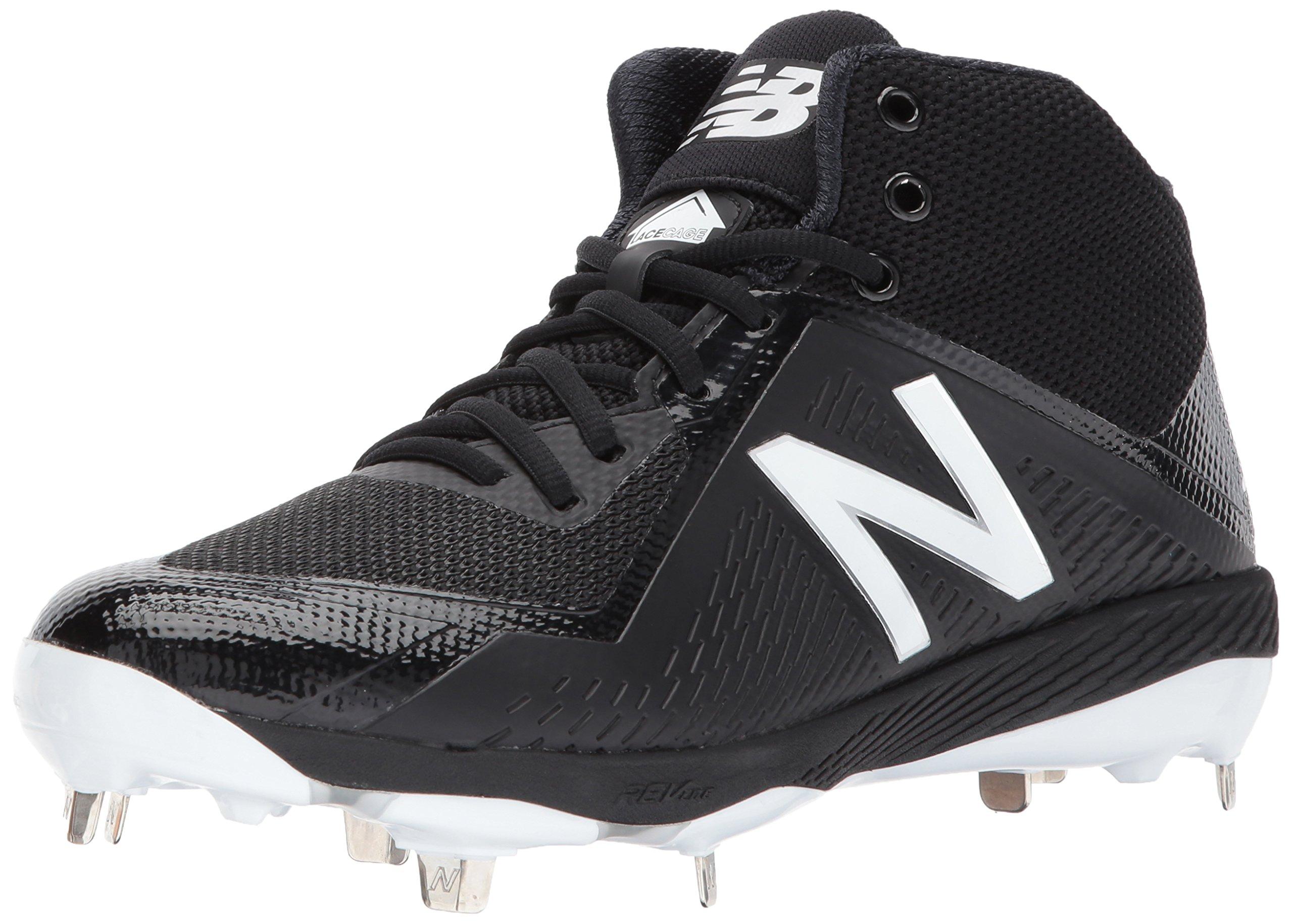 New Balance Men's M4040v4 Metal Baseball Shoe, Black, 5 D US