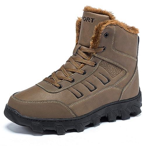 Msjenny Uomo Stivali da Neve Scarpe Invernali Caldo Impermeabile All aperto  Boots f380dfdb8f1