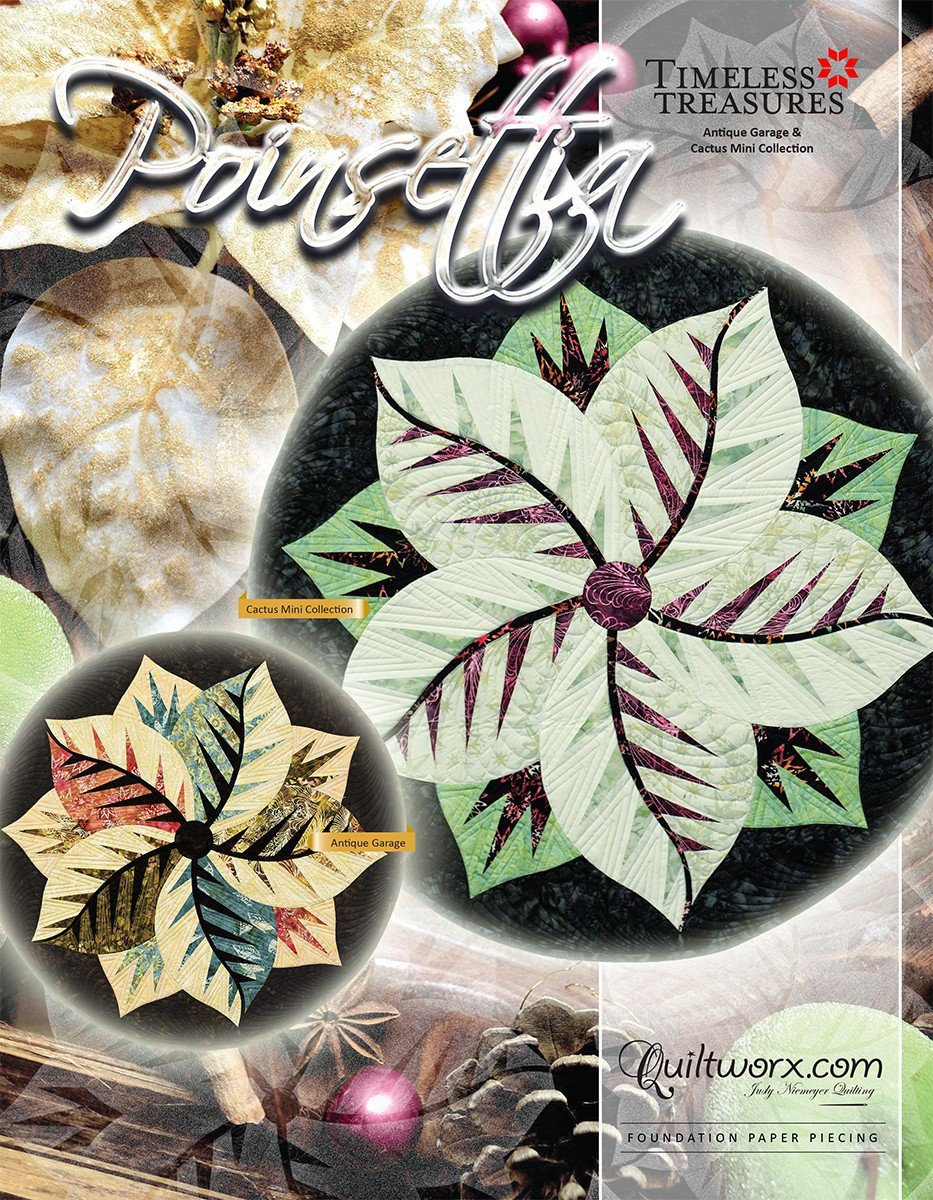 Poinsettia Table Topper Quilt Pattern by Quiltworx,Multi by Quiltworx