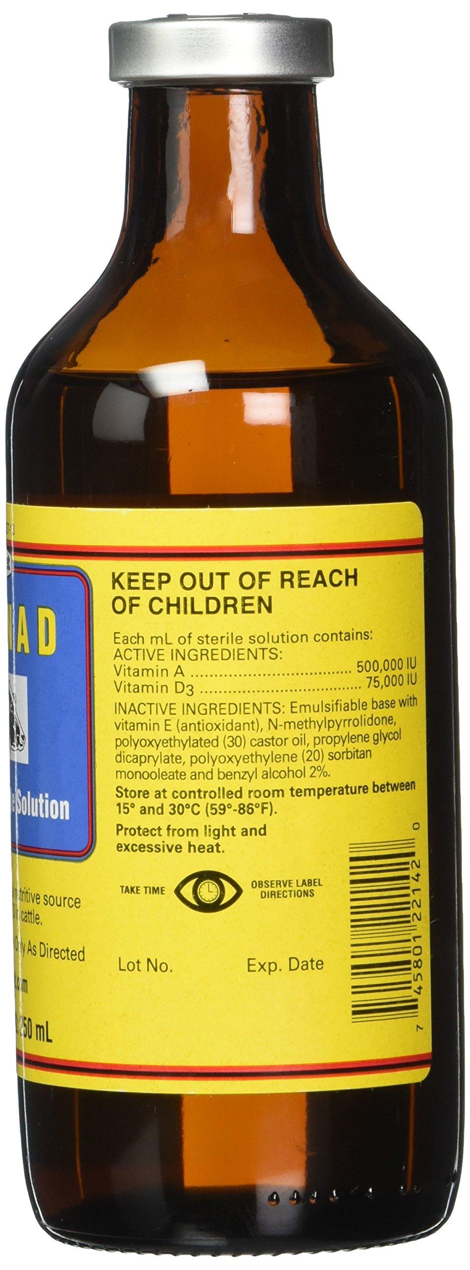 Durvet 002568 Vitamin Ad Injection, Yellow, 250ml by Durvet (Image #2)