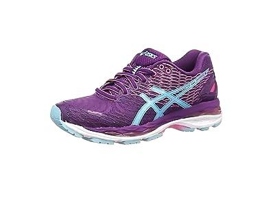 Asics - Gel-Nimbus 18, Zapatillas de Running Mujer, Morado (Purple/Turquoise/Flamingo 3340), 36 EU