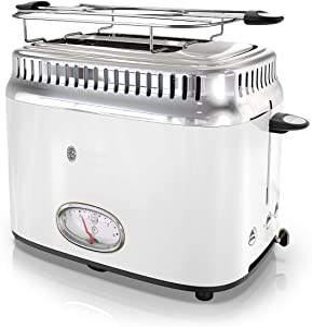 Russell Hobbs TR9150WTR Retro Style 2-Slice Toaster, White