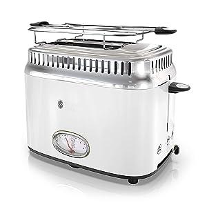 Russell Hobbs TR9150WTR Retro Style Toaster, 2-Slice, White