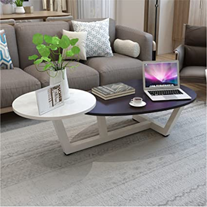 Amazon.com: TUORUI Small Coffee Table, Tea Table,2 Tiered Sofa Table ...