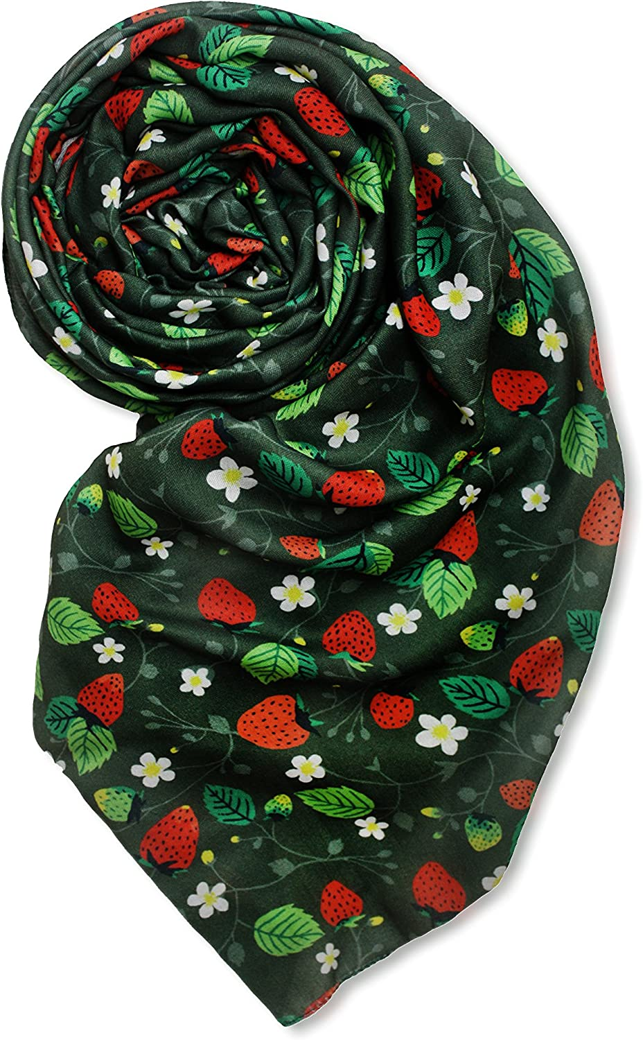 Printed Village Women's Food and Drink Theme Scarves from designers around the world - light weight fashion shawl wrap