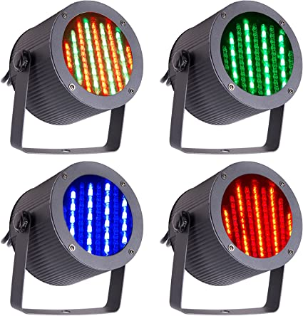 Amazon.com: CO-Z 86 RGB LED Luces de escenario Par DMX 512 ...