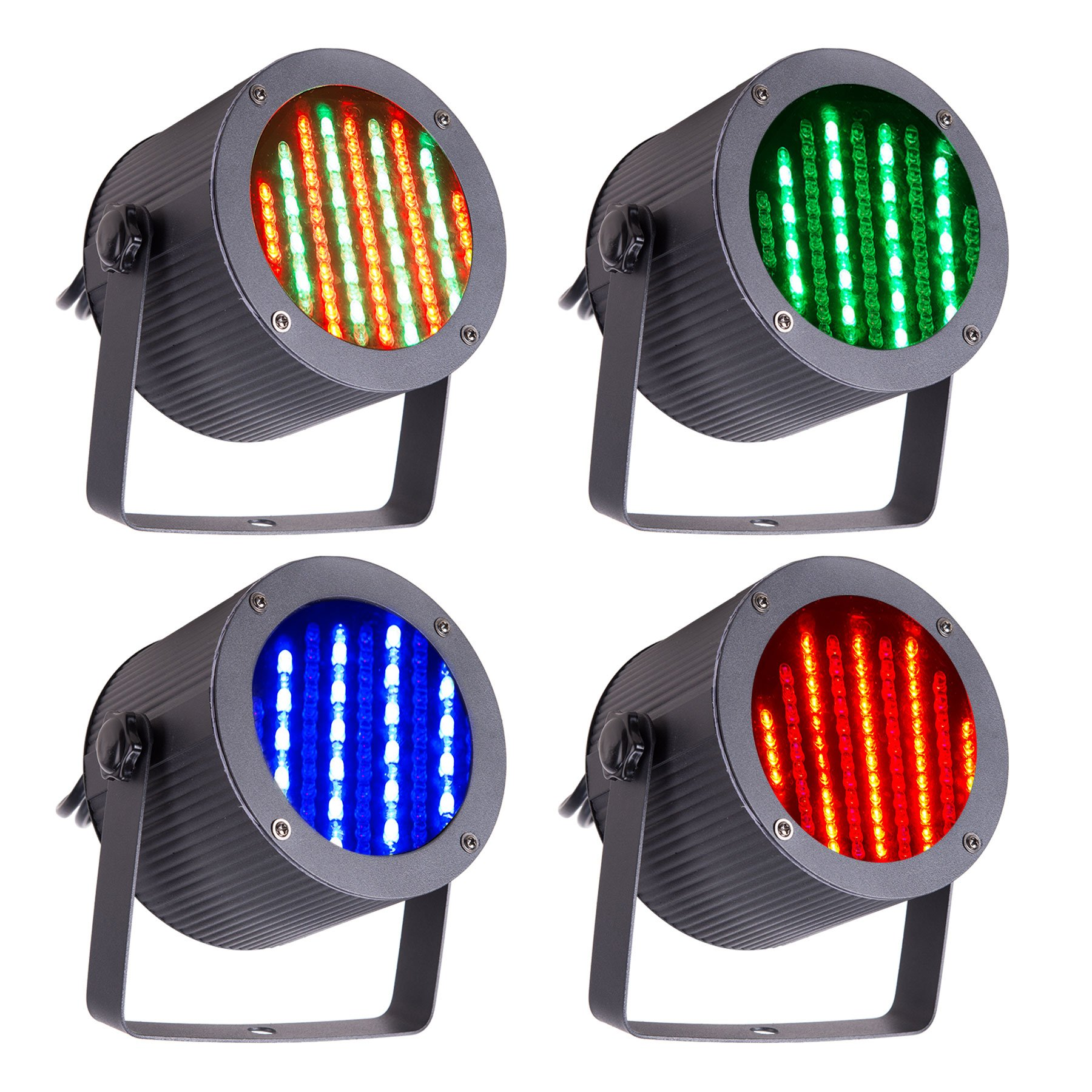 CO-Z 4pcs DMX Controlled LED Stage Lights, 86 RGB Sound Activated Par Stage Effect Lighting for Home Party Festival Bar Club Wedding Church Uplighting by CO-Z