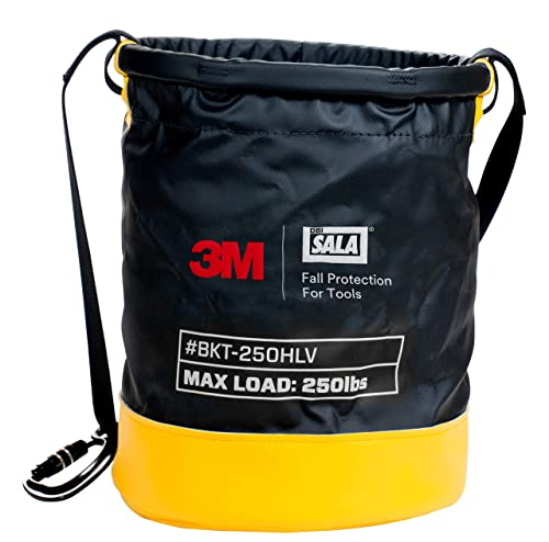 3M DBI-SALA Python, 1500140, Vinyl Spill Control Safe Bucket w 6 D-Ring Connection Points Inside Of Bucket, w Hook Loop Closure System, 250 lb Load Rating