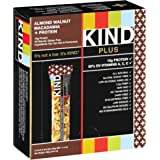 KIND Plus Nutrition Boost Bar, Almond Walnut Macadamia/Protein, 1.4 oz Bar, 12 Count (Pack of 2)
