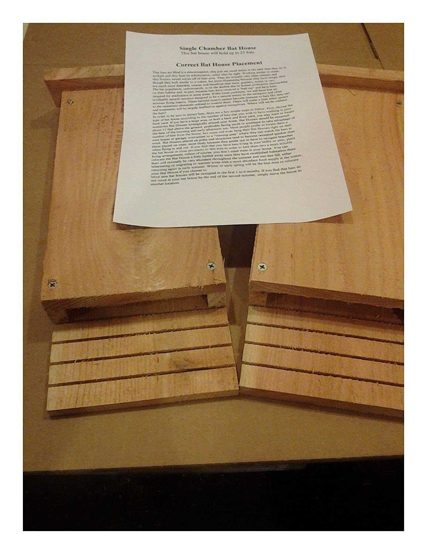 2 Single Chamber Bat Houses 5/8 Cedar Handmade In USA na