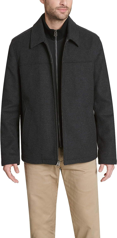 Dockers Mens Logan Wool Blend Open Bottom Bib Jacket