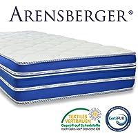 Arensberger ® Flexx 9 Zonen Matratze mit 3D-Memory Foam, Höhe 25 cm, Allergiker Geeignet, 2 Schichten: Kaltschaum + Visco Smart Schaum