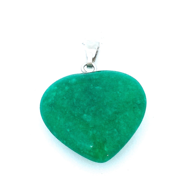 Colgante mineral forma de corazón jade de China ideal como regalo de