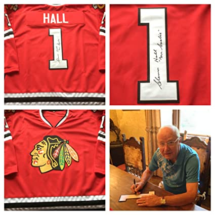 Glenn Hall Chicago Blackhawks Signed Autograph Jersey  1 Mr. Goalie. JSA COA 231a6f940