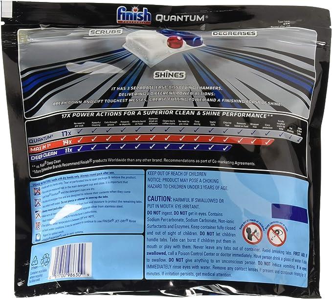 Amazon.com: Finish Quantum - Pastillas de detergente para ...