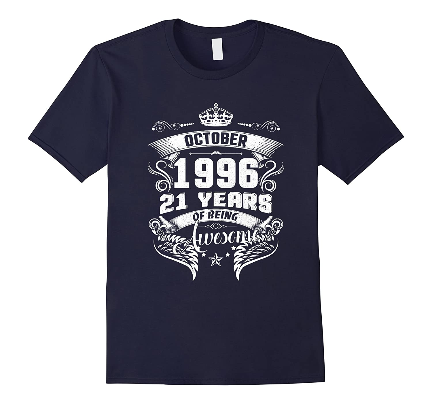 Born in 1996 - 21 Years Old - 21st Birthday Gift T-shirt-FL