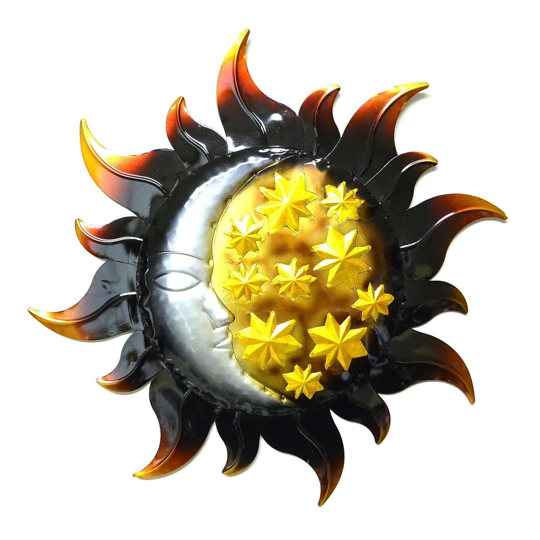 Amazon.com : Very Cool Stuff Sun with Moon and Stars Wall Art ...