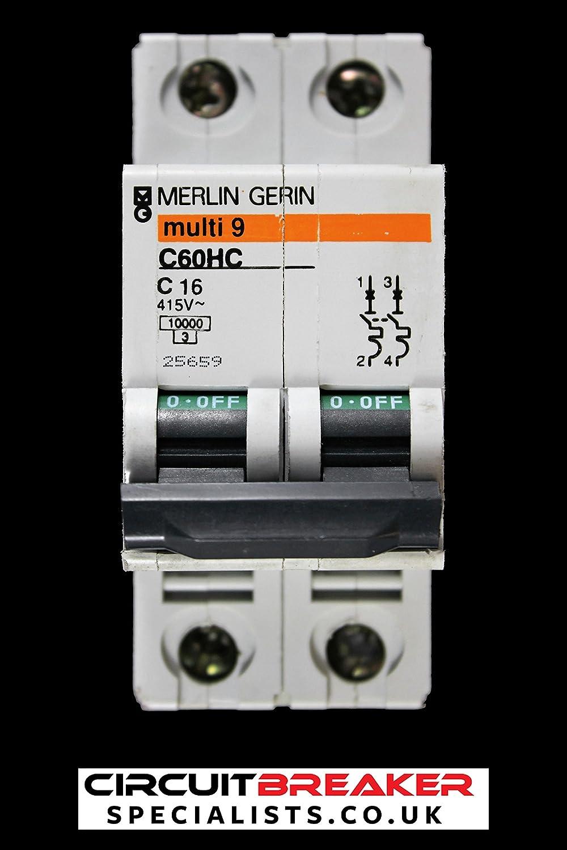 Merlin Gerin Schneider C60HC Multi 9 TypeC Amps MCB Circuit Breakers Single Pole