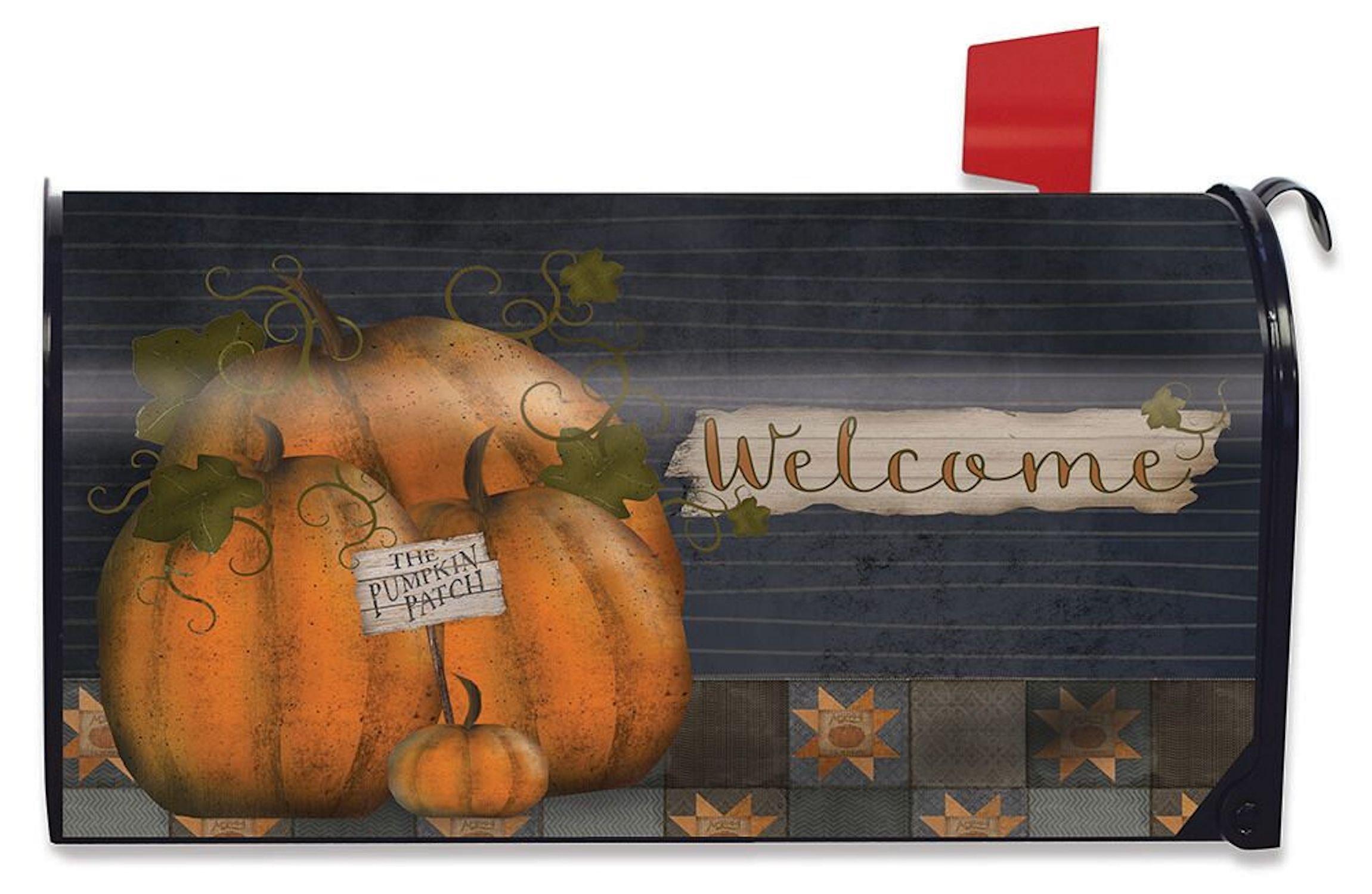 Briarwood Lane Pumpkin Patch Welcome Mailbox Cover Fall Primitive Standard