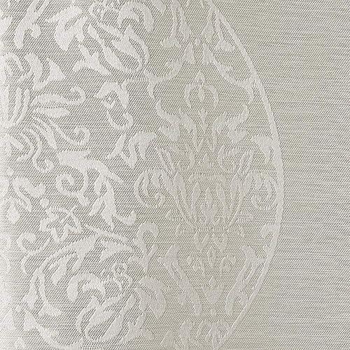 Exclusive Home Curtains Akola Medallion Linen Jacquard Grommet Top Curtain Panel Pair