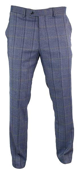 233d6d1b14f364 house of cavani Pantalone da Uomo in Lana Classico Vintage Elegante Peaky  Blinders: Amazon.it: Abbigliamento